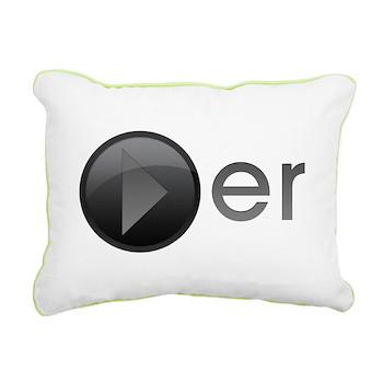 Player Rectangular Canvas Pillow