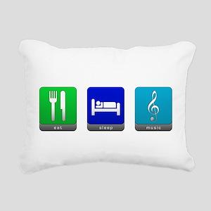 Eat, Sleep, Music Rectangular Canvas Pillow