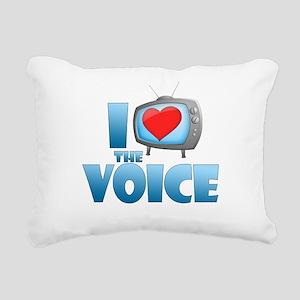 I Heart The Voice Rectangular Canvas Pillow