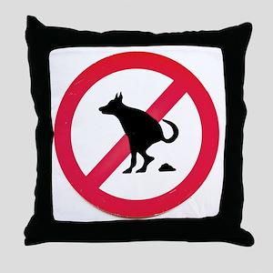 No pooping Throw Pillow