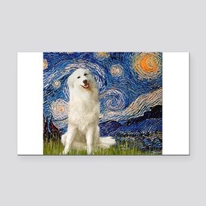 Starry Night / Pyrenees Rectangle Car Magnet