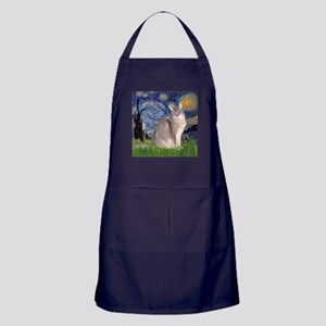 Starry / Blue Abbysinian cat Apron (dark)
