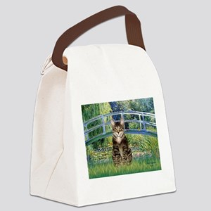 Bridge - Tabby Tiger cat 30 Canvas Lunch Bag