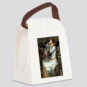 Ophelia / Tiger Cat Canvas Lunch Bag