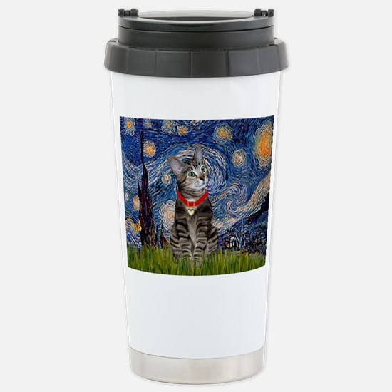 Starry Night / Tiger Cat Stainless Steel Travel Mu