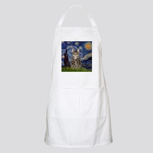 Starry Night & Tiger Cat Apron