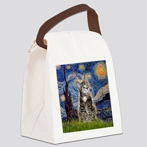 Starry / Tiger Cat Canvas Lunch Bag