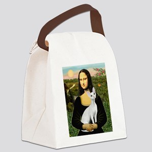 5.5x7.5-Mona-DevonRex1 Canvas Lunch Bag