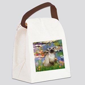 TILE-Lilies2-HimilayanJF Canvas Lunch Bag