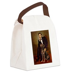 Lincoln / Chocolate Lab Canvas Lunch Bag