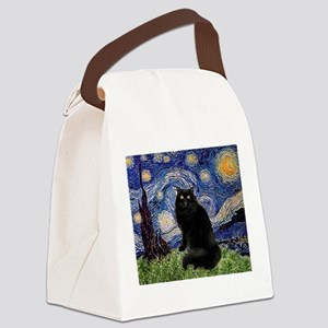 Starry Night /Persian (bl) Canvas Lunch Bag