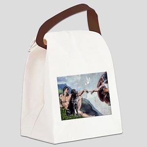 CREATION / Black Lab (#2) Canvas Lunch Bag