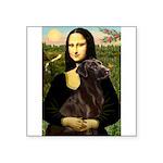 Mona & her Chocolate Lab Square Sticker 3