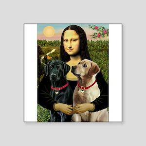 """Mona / Labrador Square Sticker 3"""" x 3"""""""