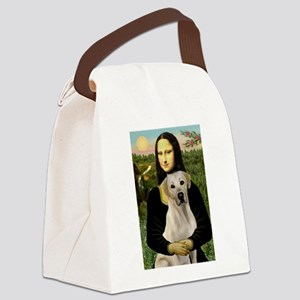 Mona Lisa / Lab (y) Canvas Lunch Bag
