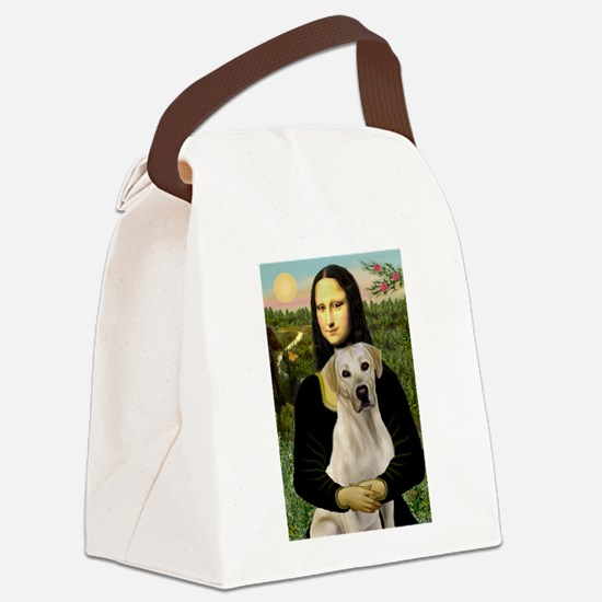 Mona Lisa / Lab (y) Canvas Lunch Bag