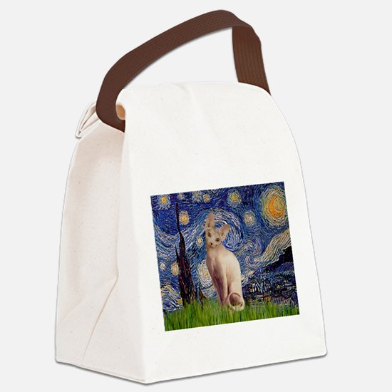 Starry Night / Sphynx Canvas Lunch Bag