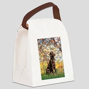 Spring / Choc Lab 11 Canvas Lunch Bag