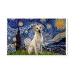Starry Night Yellow Lab Rectangle Car Magnet