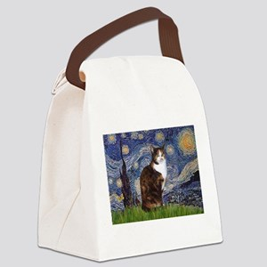 TILE-Starry-CalicoSH Canvas Lunch Bag