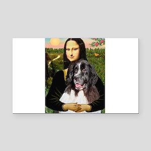 Mona Lisa's Landseer Rectangle Car Magnet