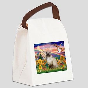 TILE-AutmnAngel-HimilayanJF Canvas Lunch Bag