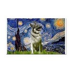 Starry / Nor Elkhound Rectangle Car Magnet