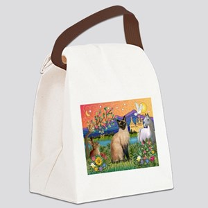 TILE-Fantasy-Siamese1 Canvas Lunch Bag