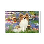 Lilies & fawn Papillon Rectangle Car Magnet