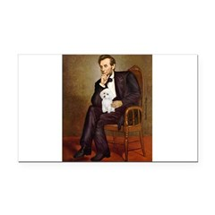 Lincoln/Poodle (W-Min) Rectangle Car Magnet