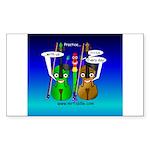 SquareGreenBrown Sticker (Rectangle 50 pk)