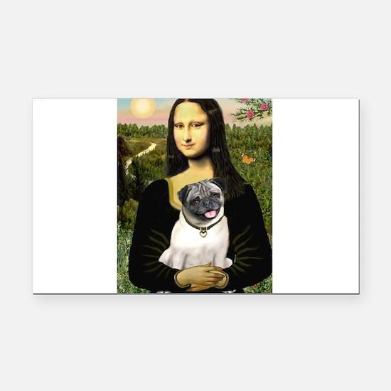 Mona's Fawn Pug Rectangle Car Magnet