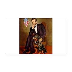 Lincoln's Rottweiler Rectangle Car Magnet