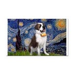 Starry / Saint Bernard Rectangle Car Magnet