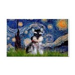 Starry / Schnauzer Rectangle Car Magnet