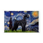 Starry Night / Schnauzer Rectangle Car Magnet