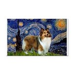 Starry / Sheltie (s&w) Rectangle Car Magnet