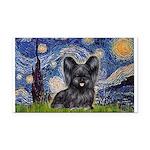 Starry / Black Skye Terrier Rectangle Car Magnet