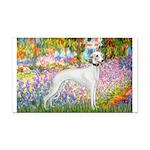 Whippet in Monet's Garden Rectangle Car Magnet