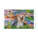 LILIES / Yorkie (T) Rectangle Car Magnet
