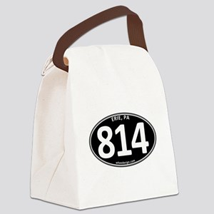 Black Erie, PA 814 Canvas Lunch Bag