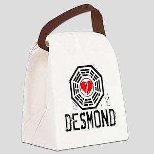 I Heart Desmond - LOST Canvas Lunch Bag
