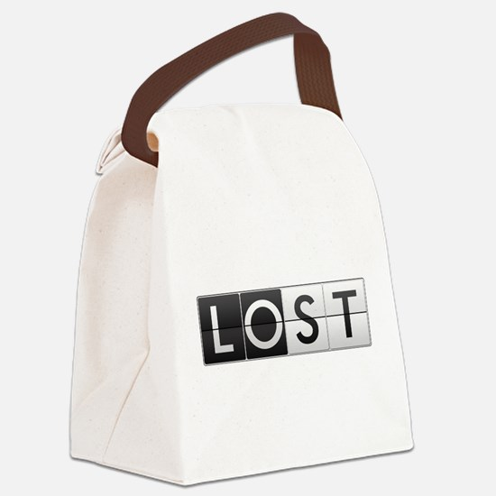 LOST - Clock Face Canvas Lunch Bag