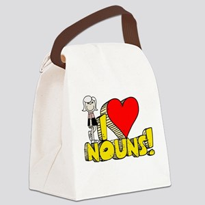 I Heart Nouns Canvas Lunch Bag