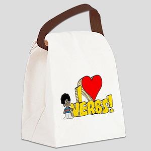 I Heart Verbs - Schoolhouse R Canvas Lunch Bag