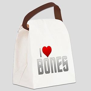 I Heart Bones Canvas Lunch Bag