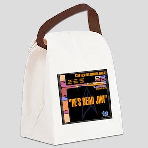 He's Dead Jim Canvas Lunch Bag