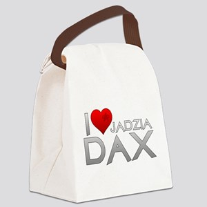 I Heart Jadzai Dax Canvas Lunch Bag