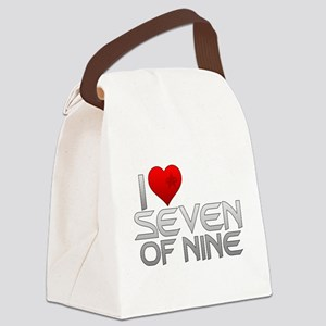 I Heart Seven of Nine Canvas Lunch Bag
