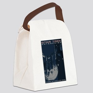 Retro Star Trek:ENT Poster Canvas Lunch Bag